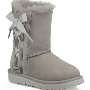 Ugg Pala toddler girls gray suede boots